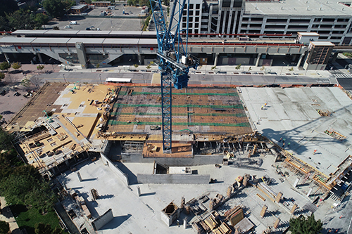 Image of an aerial view of a construction site