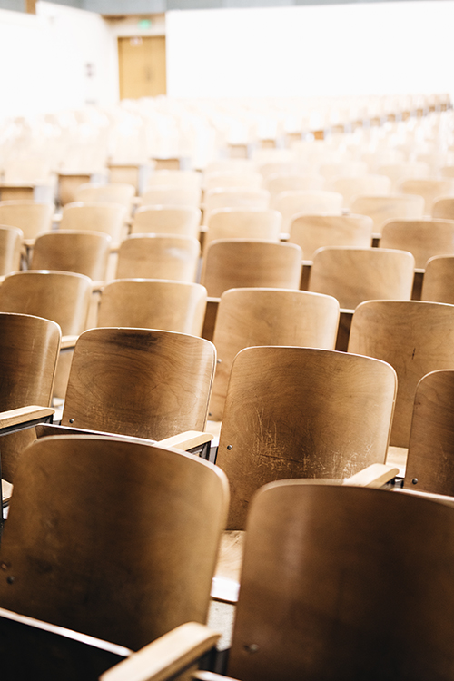 Image of empy seats in an auditorium